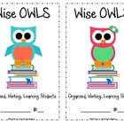 Wise OWLS Folder covers (half page)