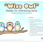 """Wise Owl"" Riddles for Inferencing Game: Speech Therapy"