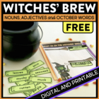 Witches&#039; Brew Descriptive Writing Adjective Activity