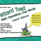 Wizard Toad Math Clue Words Card Game Problem Solving Vocabulary