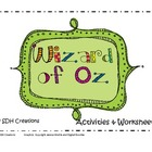 Wizard of Oz Activities &amp; Worksheets