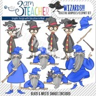 Wizards Clipart Set: Over 40 Custom Graphics