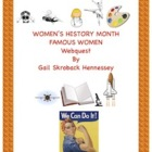 Women&#039;s History Month-Webquest