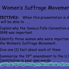 """Women's Suffrage Movement"" - U. S. History Power Point"