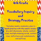 Wonder Girls 4th Grade Wonders: Unit 6 Vocabulary Inquiry