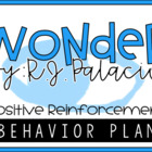 Wonder R.J. Palacio - Positive Reinforcement Behavior Plan Bundle