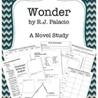 Wonder by  R.J. Palacio Novel Study Unit