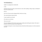 Wonderball inside classroom activity
