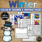 Wonderful Winter Coloring and Writing Sheets SNOW, Hot Coc