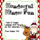Wonderful Winter Fun: Math and ELA Winter Fun
