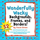 Wonderfully Wacky Backgrounds and Frames Clip Art Graphics
