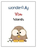 Wonderfully Wise Words - A  vocabulary organizer and journal