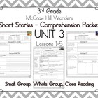 Wonders 3rd Grade - Guided Reading Groups - UNIT 3