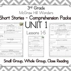 Mcgraw Hill Wonders 3rd Grade - Guided Reading - UNIT 1