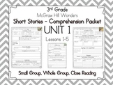 Wonders 3rd Grade - Guided Reading - UNIT 1