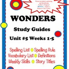 Wonders McGraw Hill Grade 2 Unit #5 Study Guides