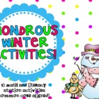 Wondrous Winter Activities! { Math and Literacy Station Co