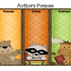 Woodland Creatures Author's Purpose Sort