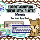 Woodland/Forest Theme Nameplates Chevron (Blue, Green, Aqu