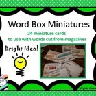 Word Box Miniatures---24 Ways to Use Magazine Words