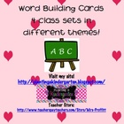 Word Building Cards (4 class sets: Valentine's and St. Pat