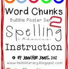 Word Chunks Poster Set 2 for Spelling &amp; Phonics Instruction