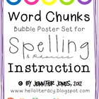 Word Chunks Poster Set for Spelling &amp; Phonics Instruction