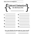 Word Detective Center Freebie!