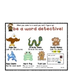 Word Detective Word Work