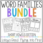Word Families Bundle Short Vowels Edition (31 families included)
