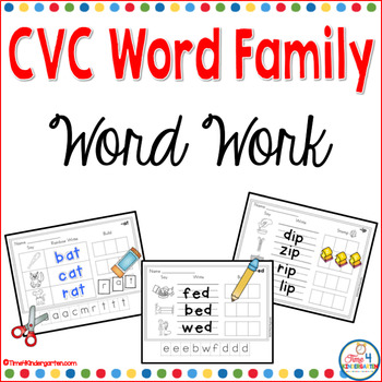 word family cvc work