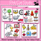 Word Families: Digraphs Clip Art Value Pack - Personal or