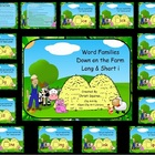 Word Families Down on the Farm Long & Short i  (SMARTBoard