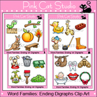 Word Families: Ending Digraphs Clip Art Value Pack - Perso