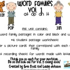 Word Families Pack Vol. 1 (at, op, an, &amp; it)