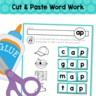 Word Families - Word building Cut and Paste Worksheets (Sh