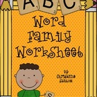 Word Families Worksheet/Activity