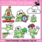 Word Families: cl Blends Clip Art Set - Personal or Commer