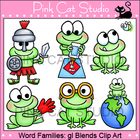 Word Families: gl Blends Clip Art Set - Personal or Commer