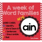 Word Family - ain family
