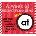 Word Family -AT family