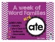 Word Family - ATE family