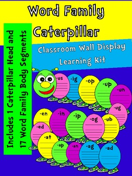 Word Family Caterpillar-XL Wall Display-Word Center