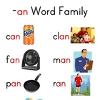 Word Family Charts (Set 1)