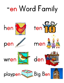 Word Family Charts (Set 2)