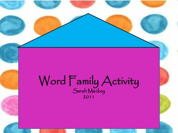 Word Family Chunk Activity