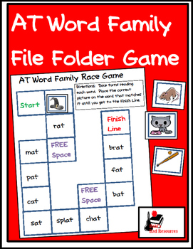 Word Family File Folder Game - AT Family