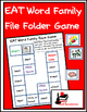 Word Family File Folder Game - EAT Family