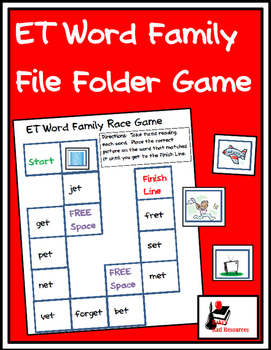 Word Family File Folder Game - ET Family