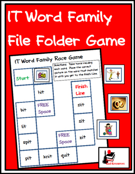 Word Family File Folder Game - IT Family